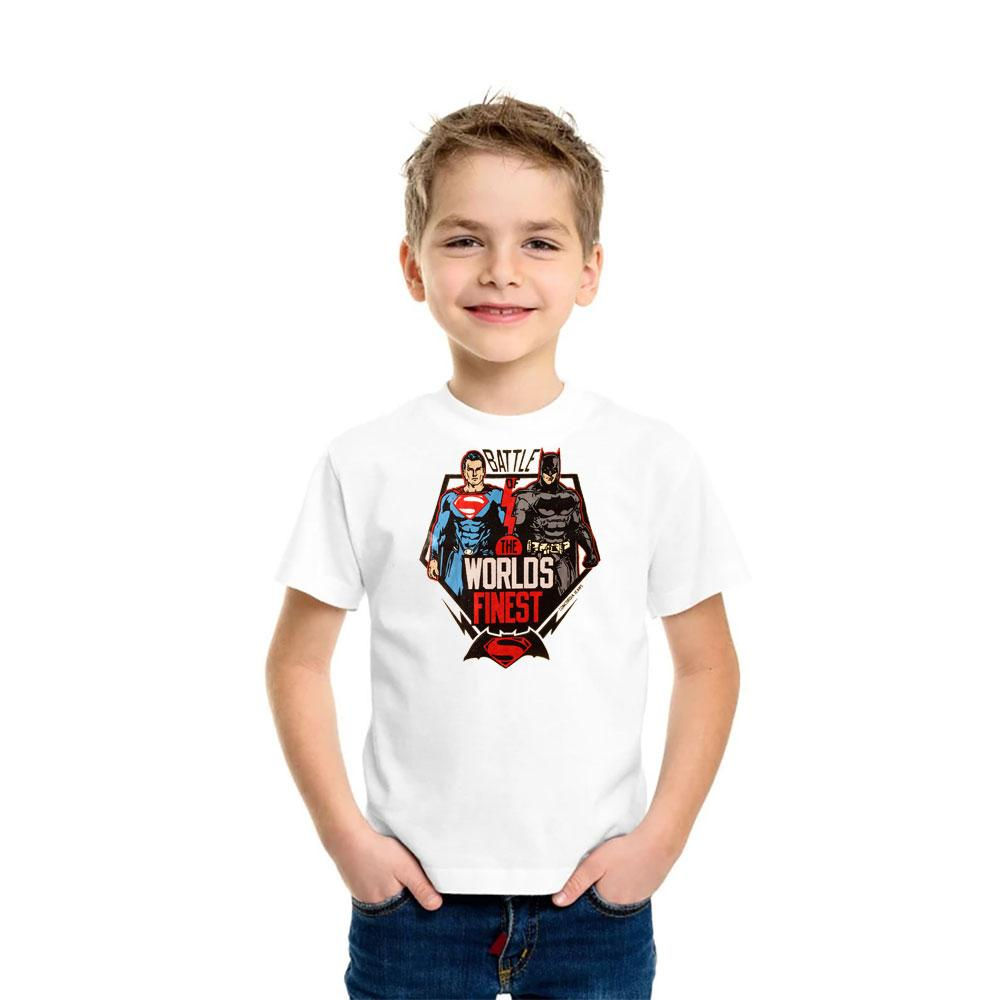 Kid's Classy Printed Tee Shirt Battle Heroes Boy's Tee Shirt SRK White 9-12 Months