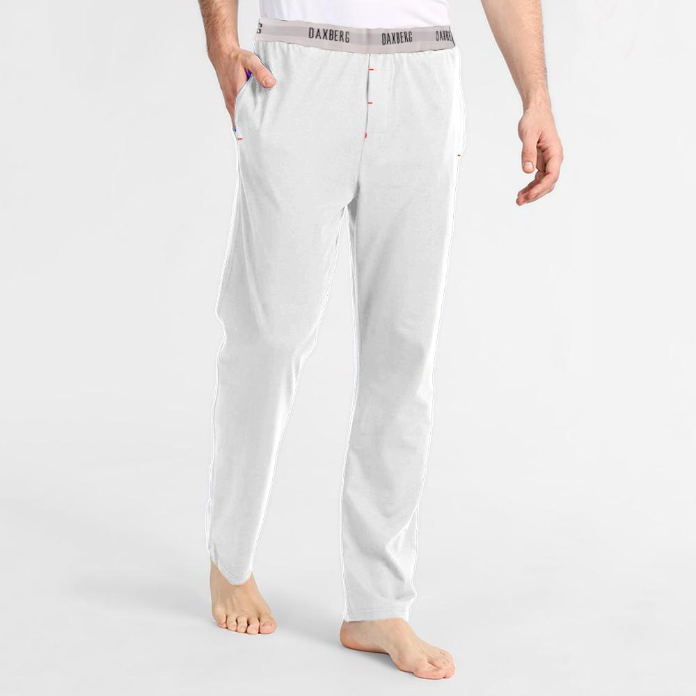 Polo Republica Men's 19-31A20 Pique Casual Lounge Pants Men's Sleep Wear Polo Republica Daxberg White S