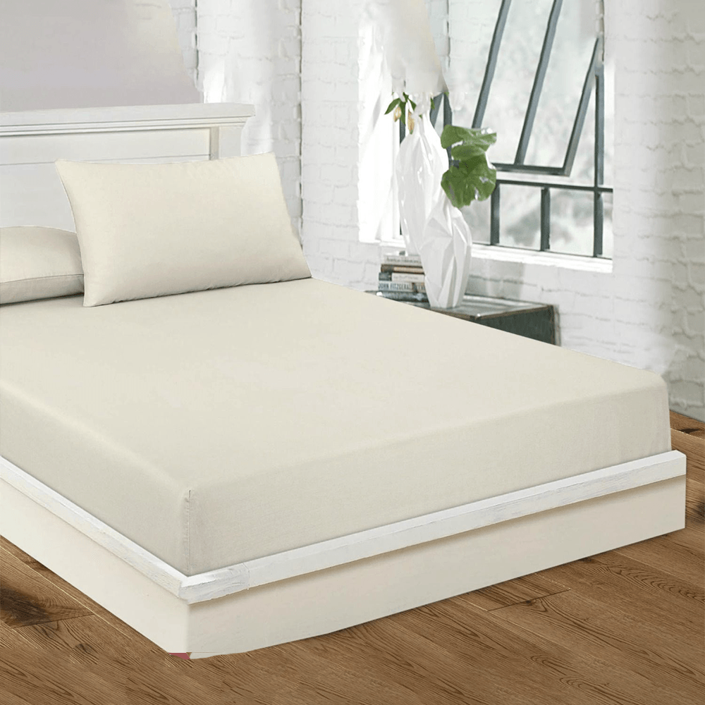 GA Imposing Design Flat Sheet Quilt Cover MB Traders White 150-200