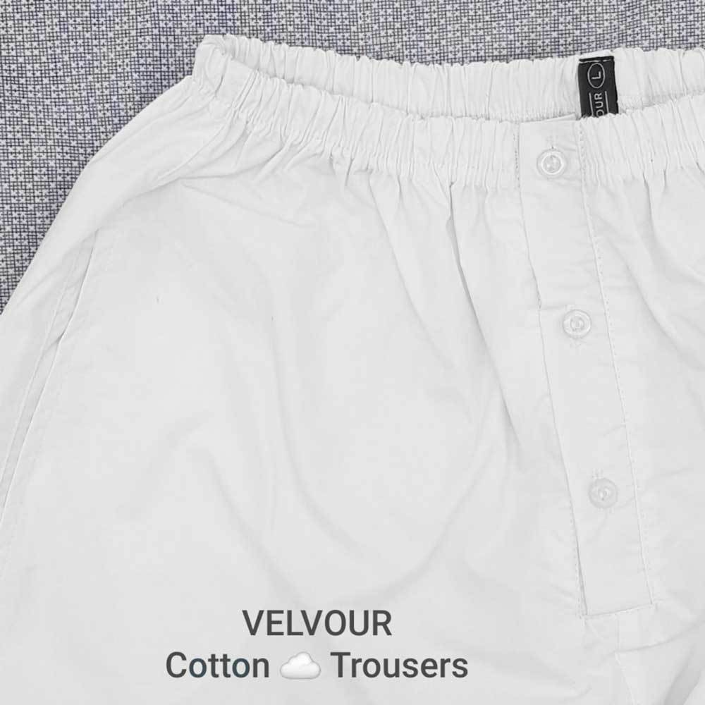 Men's Pure White Desi Trouser Men's Trousers YTC