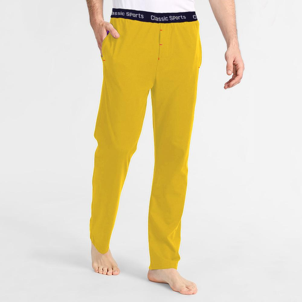 Polo Republica Men's 19-31A20 Pique Casual Lounge Pants Men's Sleep Wear Polo Republica Classic Sports Yellow S