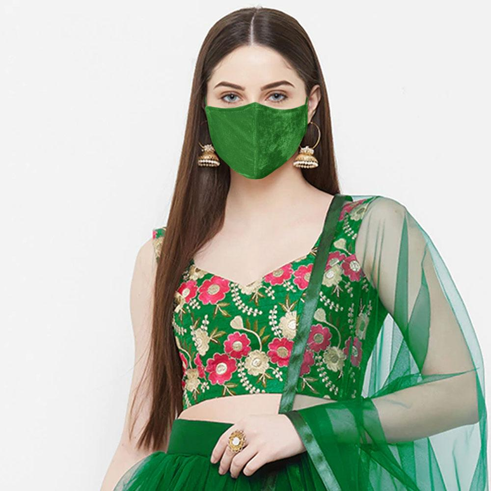 Shadi Wala Mask in Velvet by Polo Republica