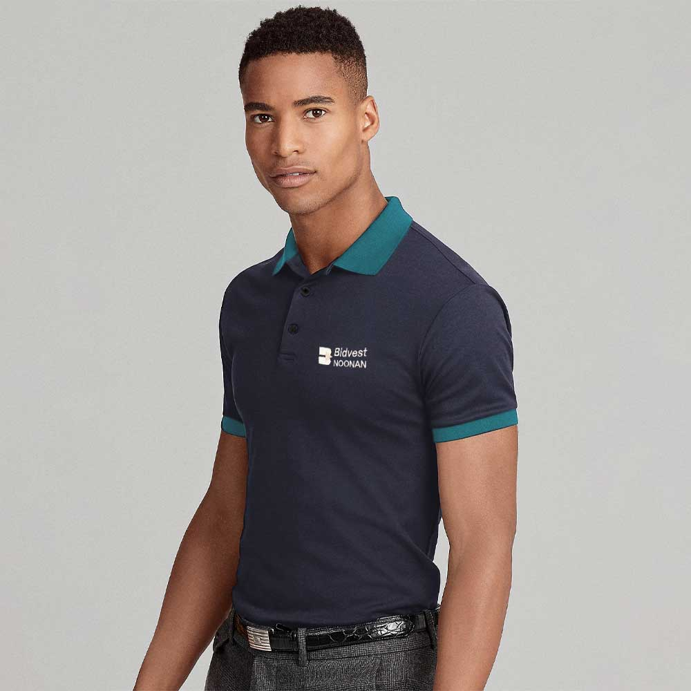 PWT Men's Phineas Minor Fault Embroidered Polo Shirt Minor Fault Image Navy XS