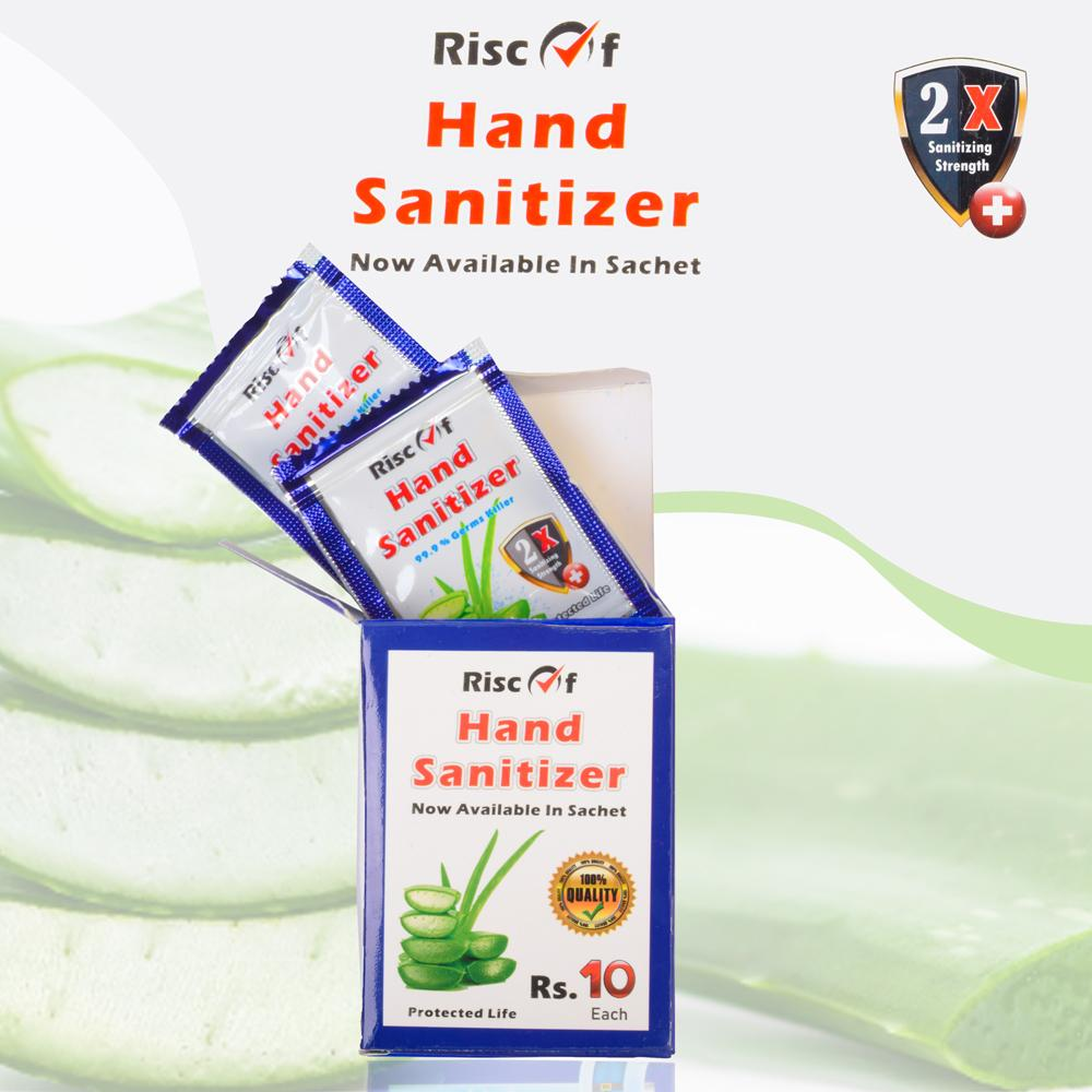 Risc Of Hand Sanitizer 99.9% Germs Killer. Box of 10 Sachets Health & Beauty Shafq Javaid