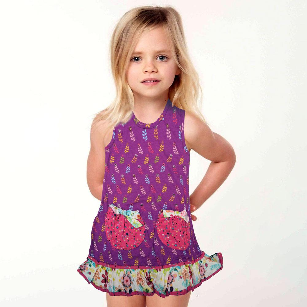 JTP Girl's Everly Floral Knit Casual Frock Girl's Frock SRK 2T