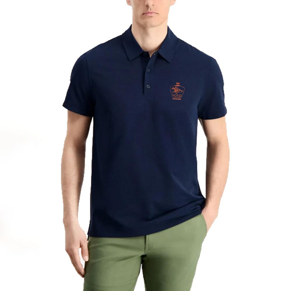 SJ Antioch Men's Horse Racing Embroidered Polo Shirt Men's Polo Shirt Image