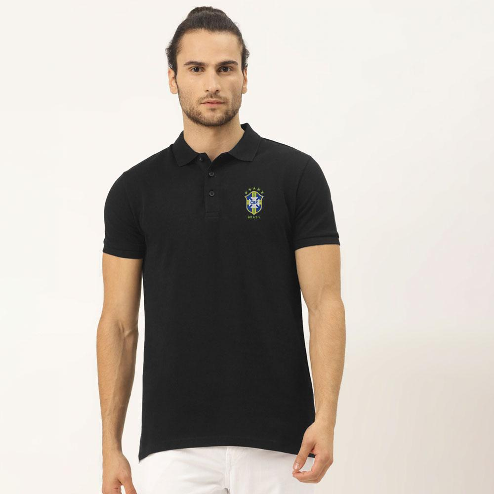 Men's Brazilian Football Confederation Embroidered Polo Shirt Men's Polo Shirt Image