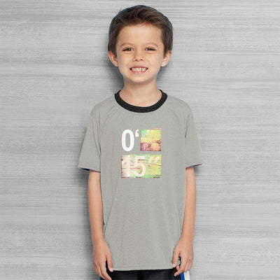 Polo Republica Finish Line Ringer Tee Shirt Boy's Tee Shirt Polo Republica Ash Grey 2 Years