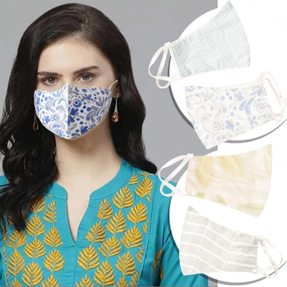 Anti-Viral Dust Resistant Printed Cotton Assorted Face Mask Pack of 50 Face Mask Star Fabrics Assorted Pack of 50