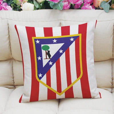 Football Club Composite Linen Cushion Cover Cushion Cover Sunshine China Atletico Madrid