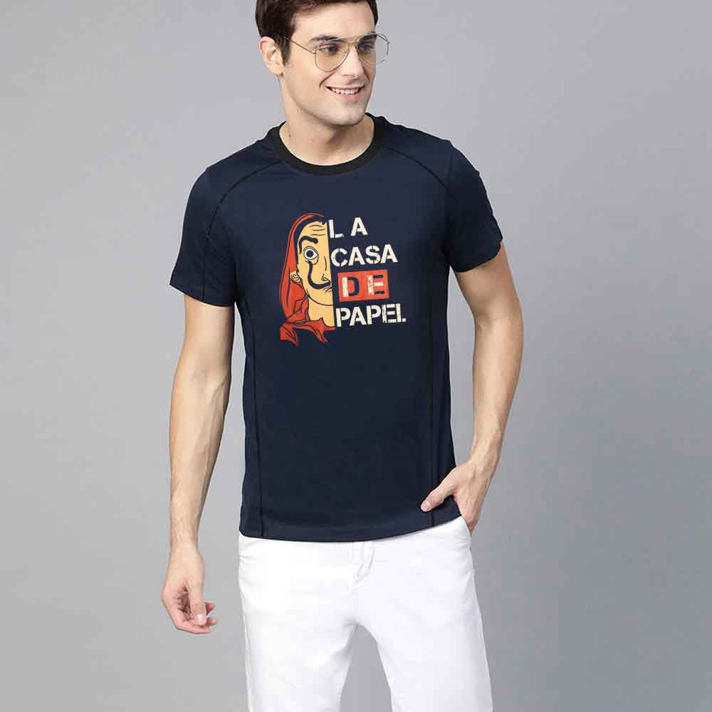 Polo Republica Men's Crew Neck Printed Tee Shirt La Casa Men's Tee Shirt Polo Republica Navy S