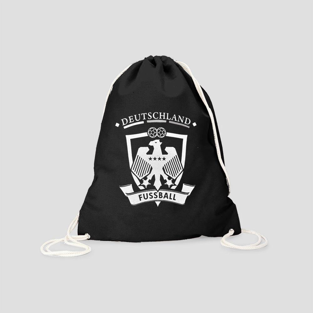 Polo Republica German Football Drawstring Bag Drawstring Bag Polo Republica Black White