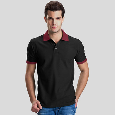 Polo Republica Abrud Polo Shirt Men's Polo Shirt Polo Republica Black Burgundy S
