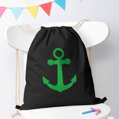 Polo Republica Ship Langar Drawstring Bag Drawstring Bag Polo Republica Black Green