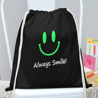 Polo Republica Always Smile Drawstring Bag Drawstring Bag Polo Republica Black Green