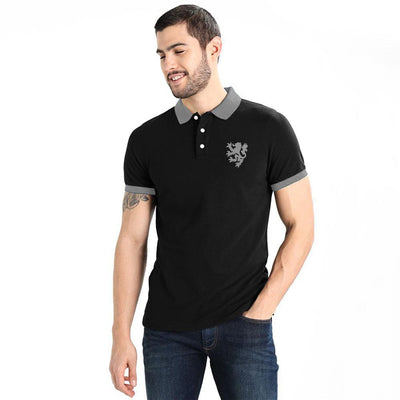 Polo Republica Reutov Polo Shirt Men's Polo Shirt Polo Republica Black Heather Grey S