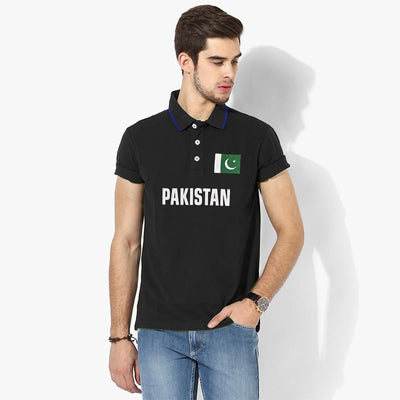 Polo Republica Pak Flag Polo Shirt Men's Polo Shirt Polo Republica Black Black S