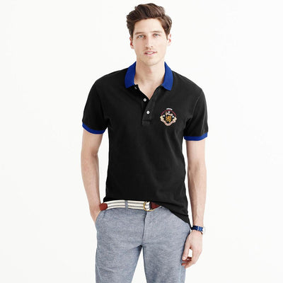 Polo Republica Players Society Short Sleeve Polo Shirt Men's Polo Shirt Polo Republica Black Royal S