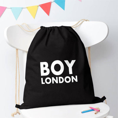 Polo Republica London Boy Drawstring Bag Drawstring Bag Polo Republica Black White
