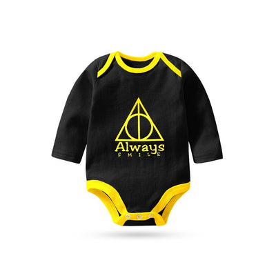 Polo Republica Always Smile Long Sleeve Baby Romper Babywear Polo Republica Black Yellow 0-3 Months
