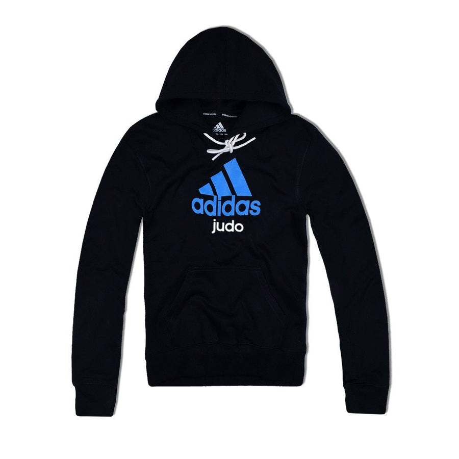 Adidas Pull Over Judo Hoodie With Chest Print - ExportLeftovers.com