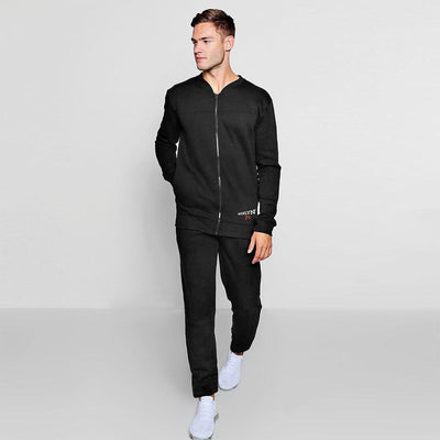 Brooklyn 76 Colonnata Men's Fleece Track Suit Men's Sleep Wear IBT Black S
