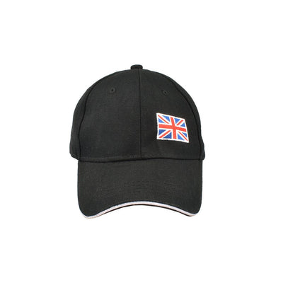 MB England Flag Embro P Cap Headwear MB Traders Black
