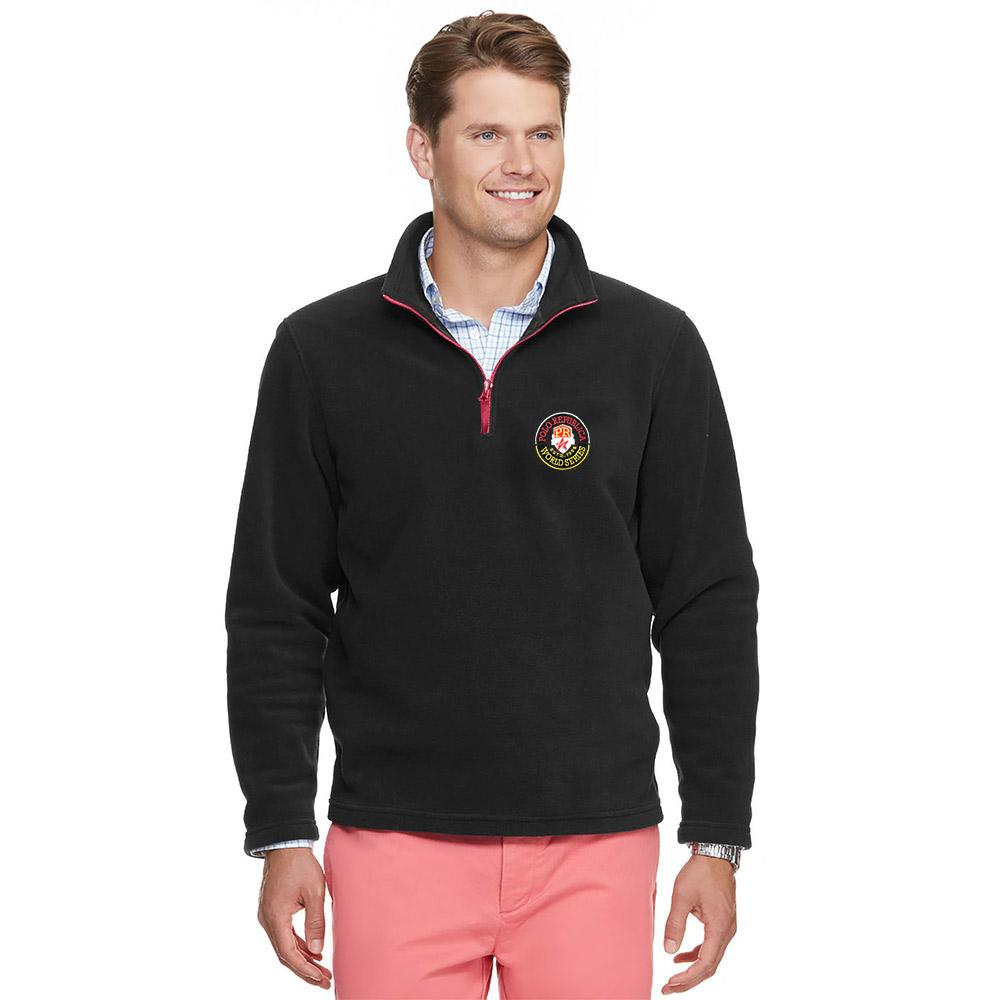 Polo Republica World Series Polar Fleece Winter Quarter Zip Jacket Men's Sweat Shirt Polo Republica Black M