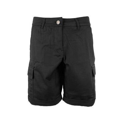 NRZ Women's Solid Cargo Shorts Women's Cargo Shorts AGZ Black 10