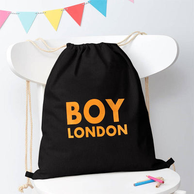 Polo Republica London Boy Drawstring Bag Drawstring Bag Polo Republica Black Yellow