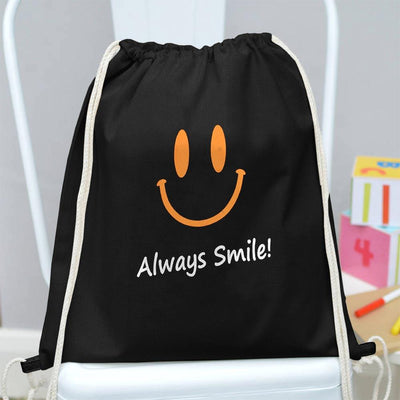 Polo Republica Always Smile Drawstring Bag Drawstring Bag Polo Republica Black Yellow