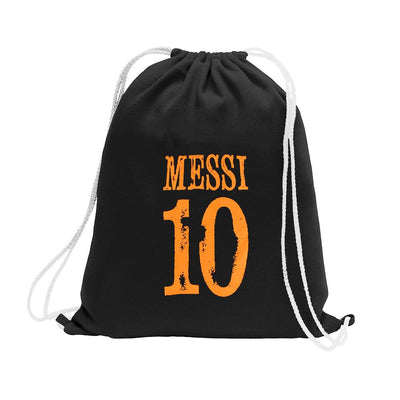 Polo Republica Messi Lovers Drawstring Bag Drawstring Bag Polo Republica Black Orange
