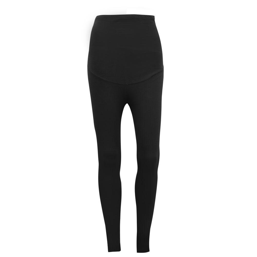KA Women's Brielle Drop Waist Solid Color Leggings Women's Trousers SRK Black XS