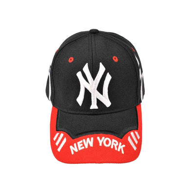 MB New York Signature Embro P Cap Headwear MB Traders Black