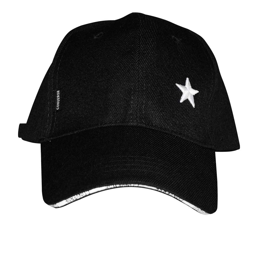 CNV Men's Star Embroidered Signature Logo P-Cap Headwear MB Traders Black