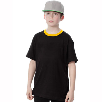 Polo Republica Kids Ringer Tee Shirt Boy's Tee Shirt Polo Republica Black 2 Years