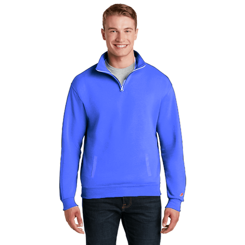 LG Cut Label Men's 1/4 Zipper Comfy Brushed Fleece Sweat Shirt