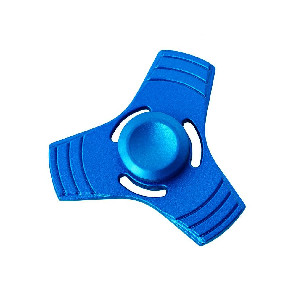 Three Blade Metal Fidget Spinner Toy HDY Blue