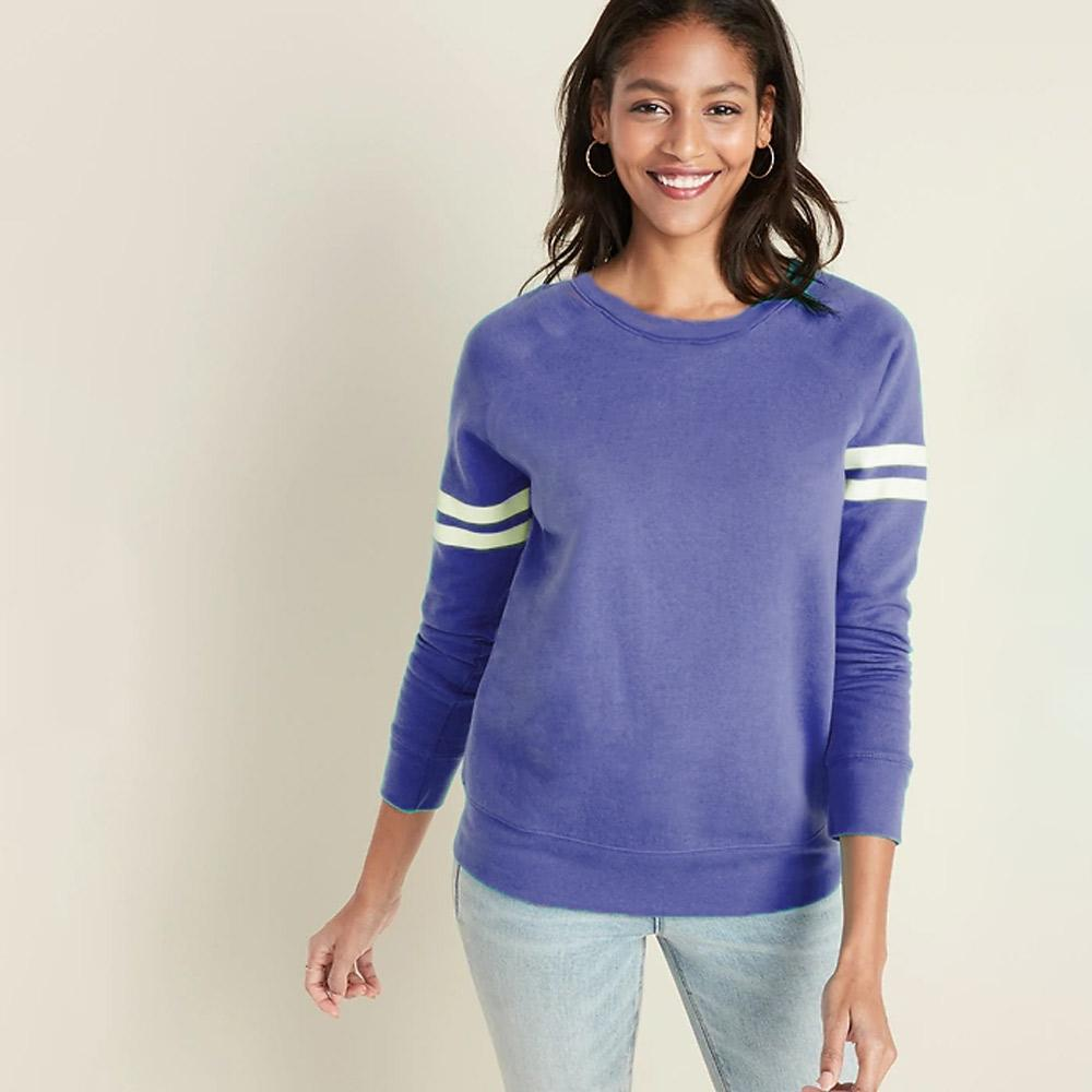 U.S Vintage Women's Balletic Sweatshirt Women's Sweat Shirt SRK Blue S