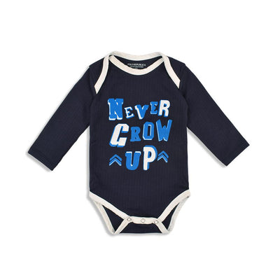 Polo Republica Never Grow Up Baby Romper Babywear Polo Republica Navy Blue 0-3 Months
