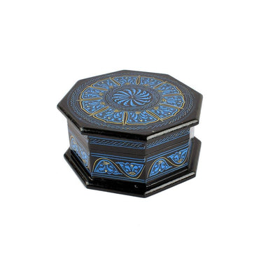 Grimstad Octagon Jewelry Box Jewellery SAK Blue