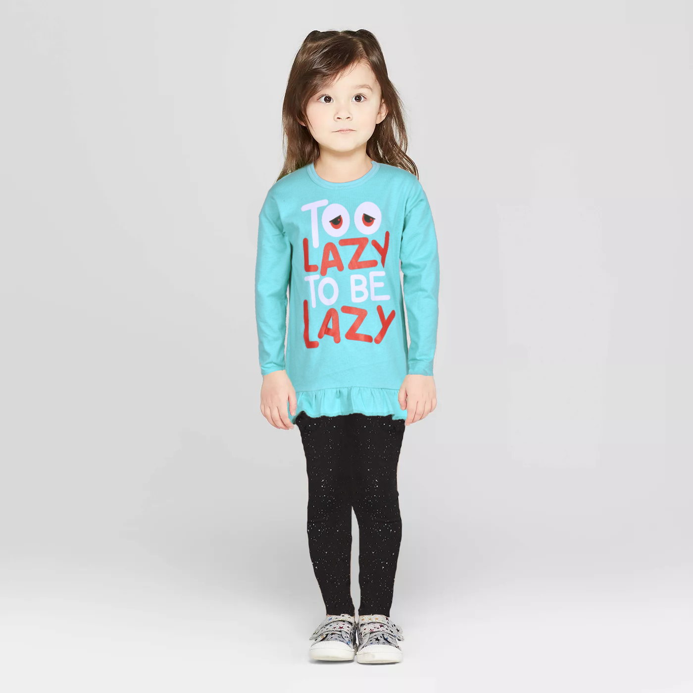 Poler Girl's Too Lazy To Be Lazy Snazzy Long Sleeve Tee Shirt Girl's Tee Shirt IBT Sky Blue Sky Blue S