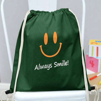 Polo Republica Always Smile Drawstring Bag Drawstring Bag Polo Republica Bottle Green Yellow
