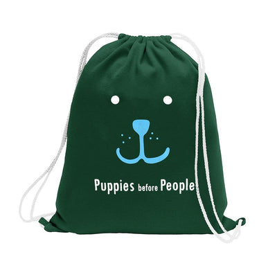 Polo Republica Puppies Before People Drawstring Bag Drawstring Bag Polo Republica Bottle Green Sky