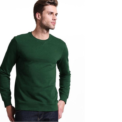 MSG Blank Classic Crew Neck Sweat Shirt Men's Sweat Shirt Image Bottle Green S