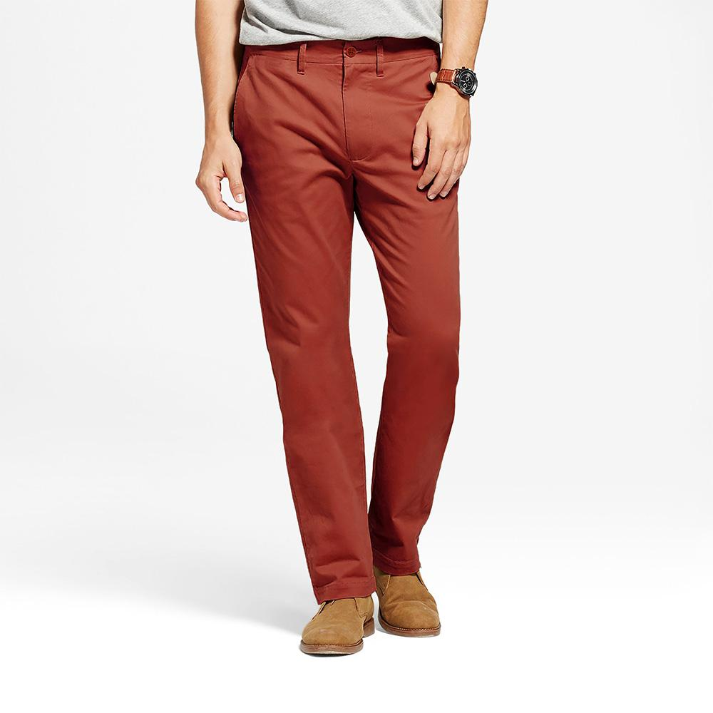 TES Moriya Slim Stretch Chino Pants Men's Chino NMA Brick Red 27 32
