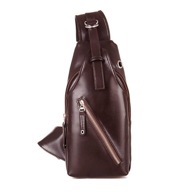 Cross Body Leather Chest Bag