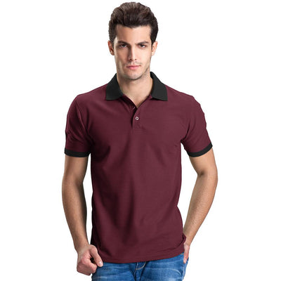 Polo Republica Abrud Polo Shirt Men's Polo Shirt Polo Republica Burgundy Black S