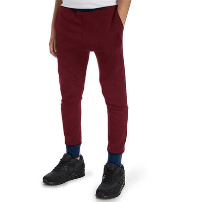 Polo Republica Kids Hoobsita Classic Sweat Pants Boy's Sweat Pants Polo Republica Burgundy Navy 2 Years