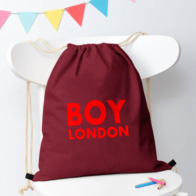 Polo Republica London Boy Drawstring Bag Drawstring Bag Polo Republica Burgundy Red